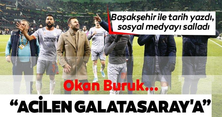 Okan Buruk Başakşehir ile tarih yazdı, sosyal medyayı salladı!