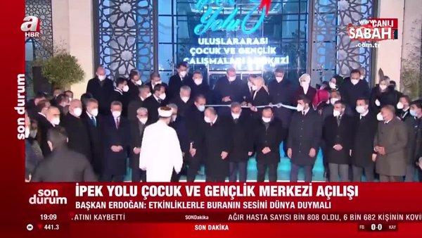 Başkan Erdoğan, Elazığ'da İpek Yolu Uluslararası Çocuk ve Gençlik Çalışmaları Merkezi açılışına katıldı | Video