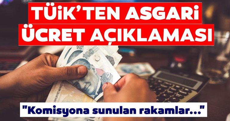 SON DAKİKA HABERİ! TÜİK'ten asgari ücret açıklaması! Asgari Ücret Tespit Komisyonu'na sunulan ağır-orta-hafif işçiler için rakamlar...