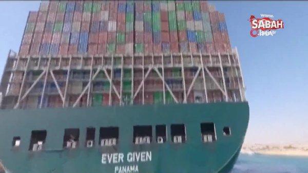 Süveyş Kanalını tıkayan Ever Given gemisi, 3 ayın ardından kanaldan ayrılıyor   Video
