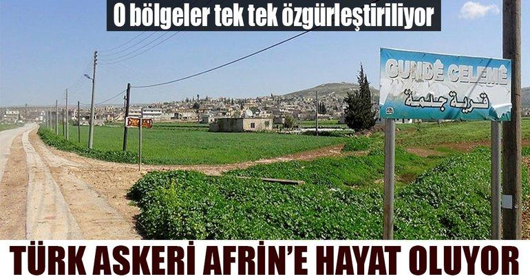 TSK Afrin'deki yaşam alanlarını özgürleştiriyor