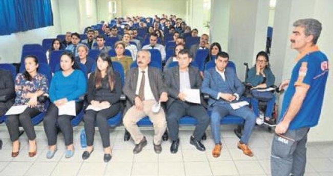 Adliye personeline 'Afet bilinci' eğitimi