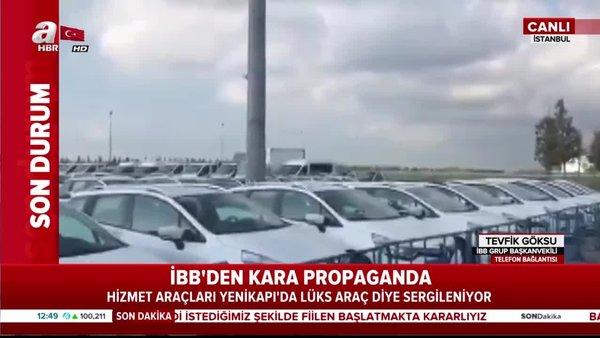 İBB'den skandal propaganda! Hizmet araçları lüks araç diye Yenikapı'da sergileniyor