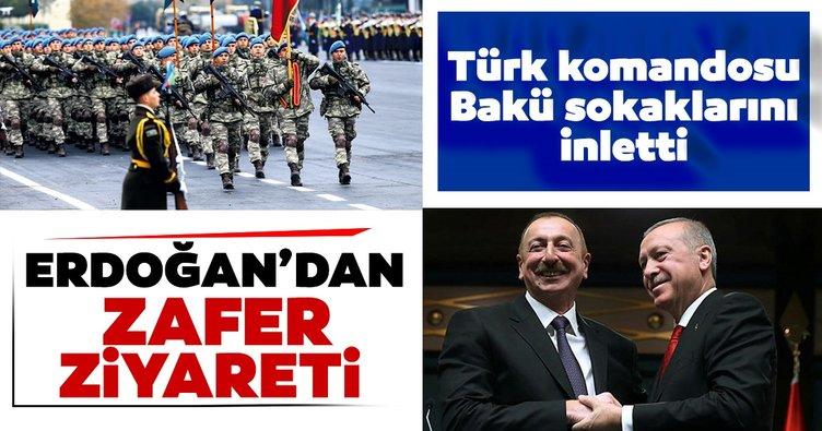 Erdoğan'dan Bakü'ye zafer ziyareti