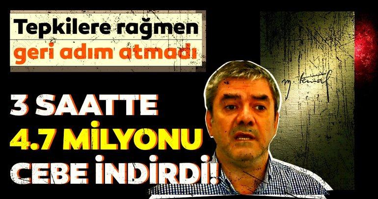 Yılmaz Özdil'den Atatürk istismarıyla milyonluk vurgun!