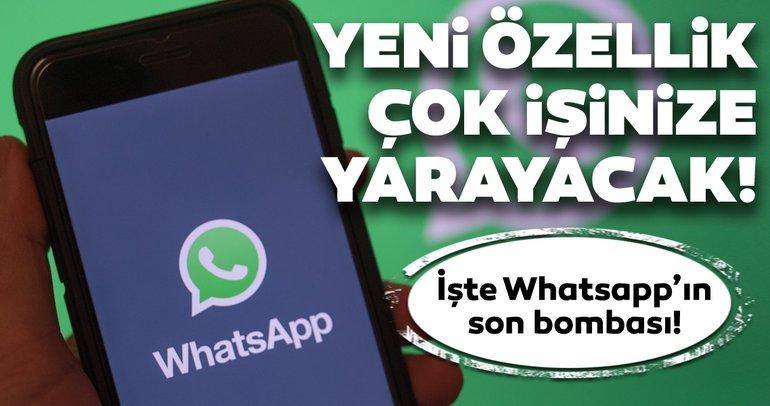 WhatsApp Android betada yeni özellik ortaya çıktı! WhatsApp'ın bu özelliği kullanıcıların işini kolaylaştıracak