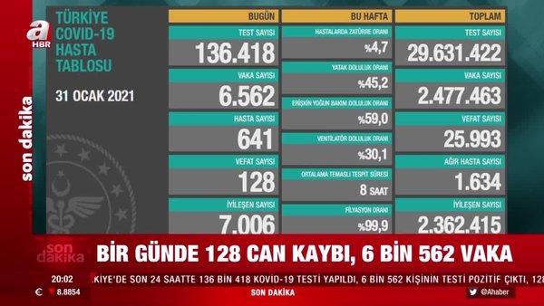 Bakan Koca SON DAKİKA açıkladı: İşte 31 Ocak Türkiye koronavirüs vaka sayısı verileri ve tablodaki son durum | Video