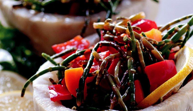 Kereviz Çanağında Deniz Börülcesi Salatası
