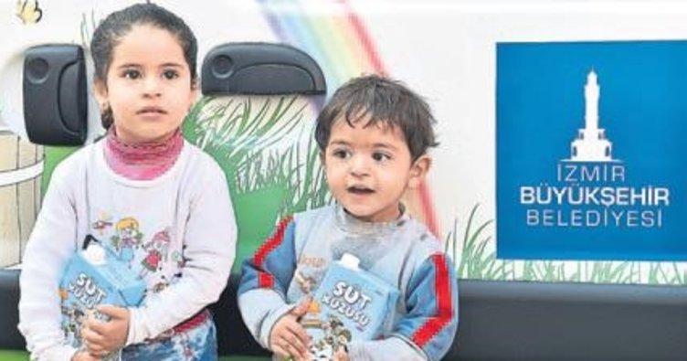Suriyeli çocuklara Büyükşehir şevkati