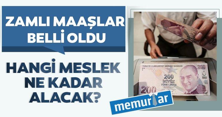 Son dakika: Enflasyon zammı belli oldu! Hangi meslek ne kadar alacak? En düşük memur maaşı belli oldu
