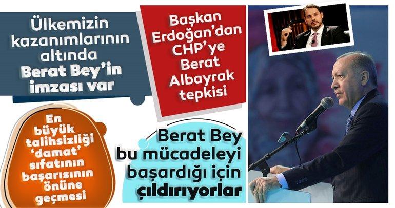 Son dakika: Başkan Erdoğan'dan CHP'ye Berat Albayrak tepkisi