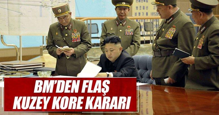 BM Güvenlik Konseyi'nden Kuzey Kore'ye yaptırım kararı