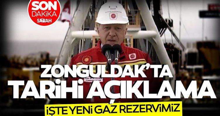 SON DAKİKA... Başkan Erdoğan Zonguldak'ta müjdeyi verdi: Doğal Gaz rezervimiz 405 milyar metreküp oldu