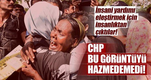 CHP, bu görüntüyü hazmedemedi! İnsani yardımı eleştirmek için insanlıktan çıktılar