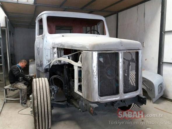 Türk kaporta ustası hurda kamyonu yeniledi! Kamyonun son hali şoke etti