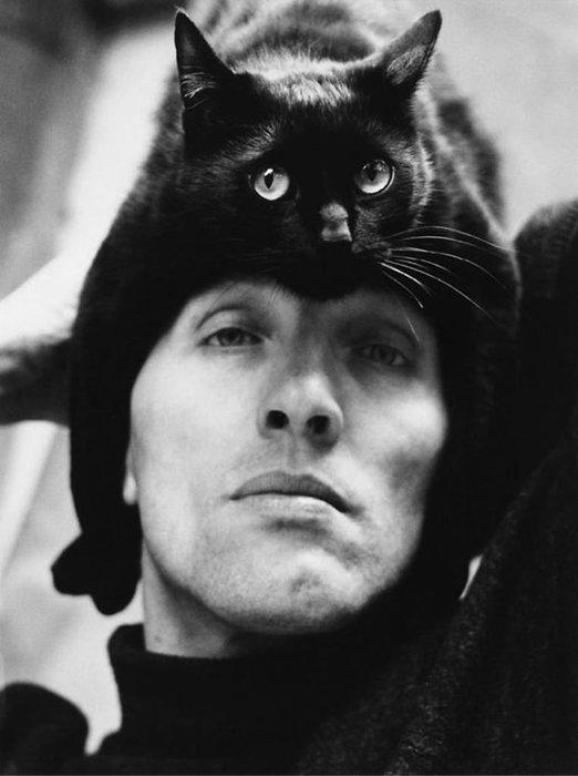 Kedilerini şapka olarak kullandılar