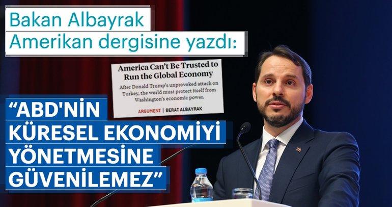 Son Dakika: Hazine ve Maliye Bakanı Berat Albayrak, Foreign Policy için yazdı: Türk ekonomisi gücünü ortaya koydu