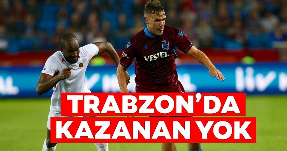 Trabzon'da kazanan yok