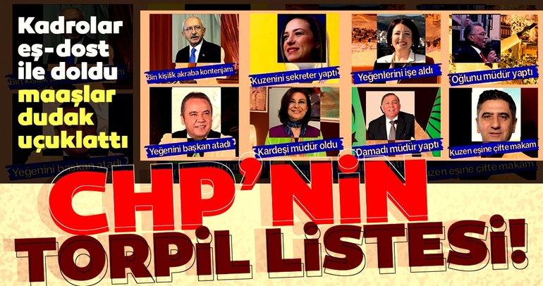 İşte CHP'li belediyelerin torpil listesi! Kadrolar eş-dost ile doldu, maaşlar dudak uçuklattı...