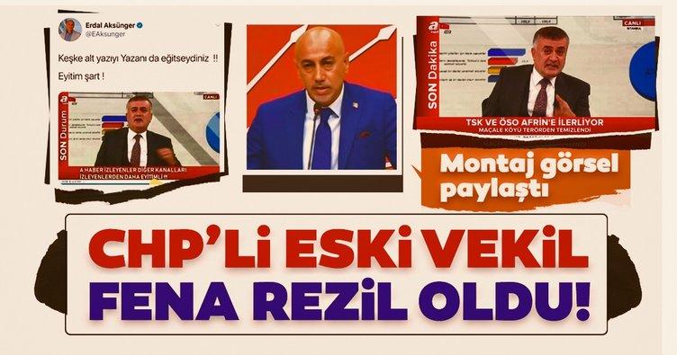 CHP'li eski milletvekili fena rezil oldu! Montaj görsele tepki yağdı!
