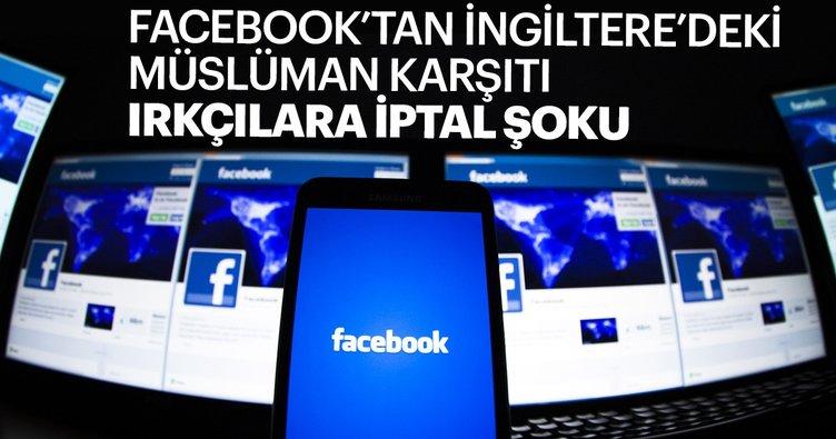 Facebook, İngiliz aşırı sağcı grup ile liderlerinin hesaplarını kapattı