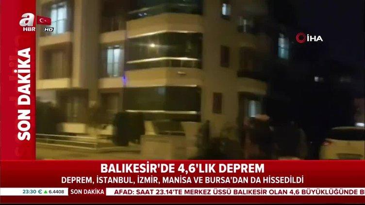 Balıkesir'de peş peşe iki deprem! İşte ilk görüntüler...