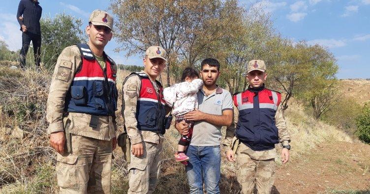 Kilis'te kaybolan 3 yaşındaki çocuk bulunup ailesine teslim edildi