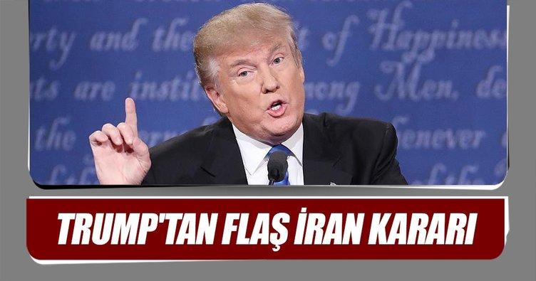 Trump İran ile nükleer anlaşmayı uzattı