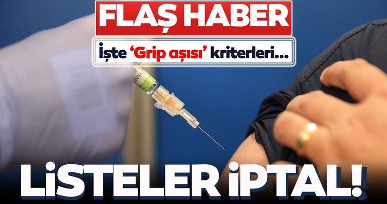 SON DAKİKA HABER! Eczanelerdeki listeler iptal edildi! Grip aşısı kimler olabilecek? Sağlık Bakanlığı'ndan grip aşısı açıklaması geldi...