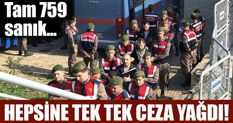 Türk adaleti FETÖ'cülerden hesap soruyor! 759 sanığa ömür boyu hapis