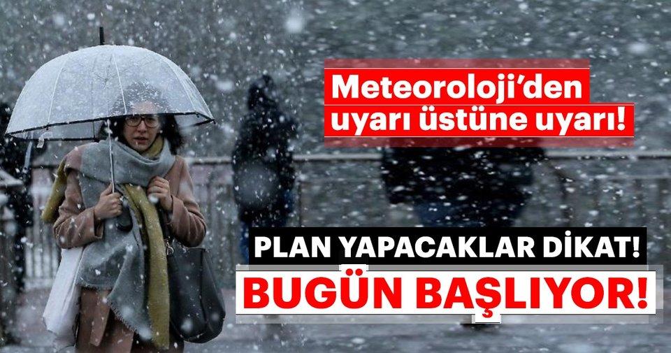 Meteoroloji'den son dakika hava durumu uyarısı! Kar yağışı bugün başlıyor! İstanbul ve Ankara'da hava nasıl... - Sabah