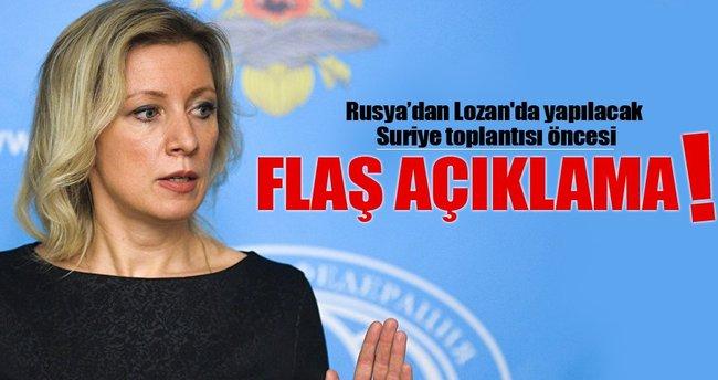 Lozan'da yapılacak Suriye toplantısı öncesi flaş açıklama