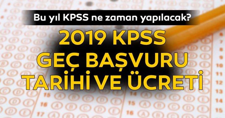 Bu sene KPSS ne zaman yapılacak? ÖSYM ile 2019 KPSS geç başvuru tarihi ve ücreti açıklandı! İşte bilgiler
