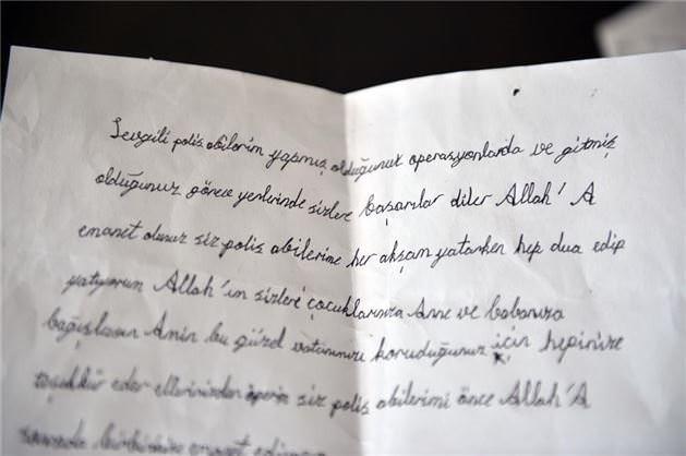 Mehmetçik'ten 'hakkınızı helal edin' notu