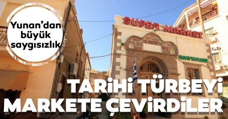 Yunan'dan skandal hareket! Niyazi Mısri'nin türbesini markete çevirdiler