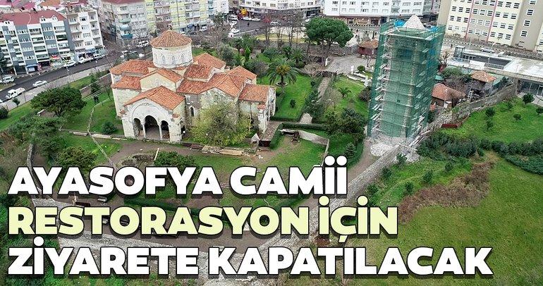 Ayasofya Camii, restorasyon için ziyarete kapatılacak