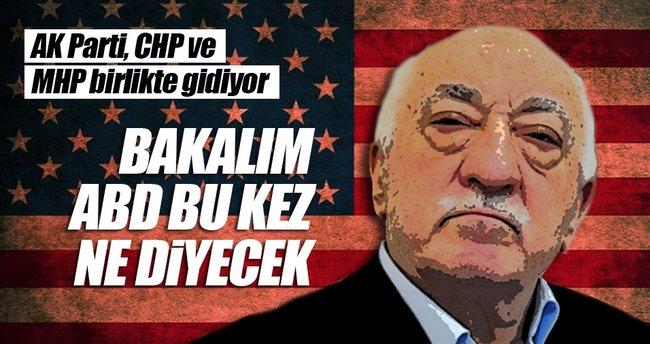 AK Parti, CHP ve MHP birlikte ABD'ye gidiyor