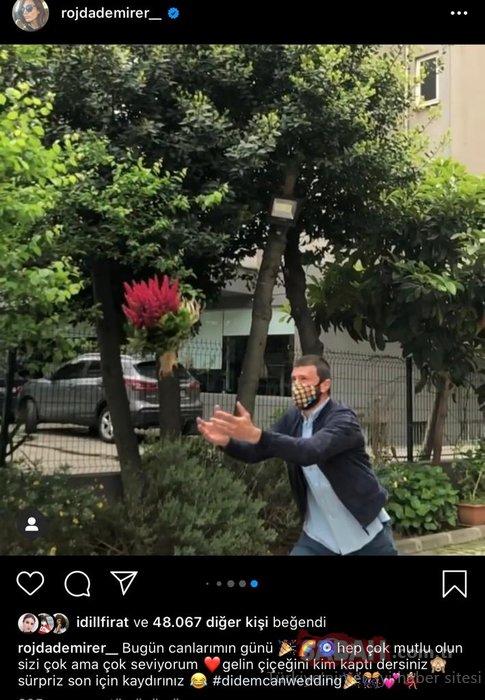 Didem Balçın'ın gelin çiçeğini Rojda Demirer'in voleybolcu erkek arkadaşı kaptı!