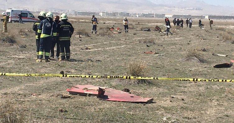 Son dakika haberi: Konya'da askeri uçak düştü! Olay yerinden ilk görüntüler geldi