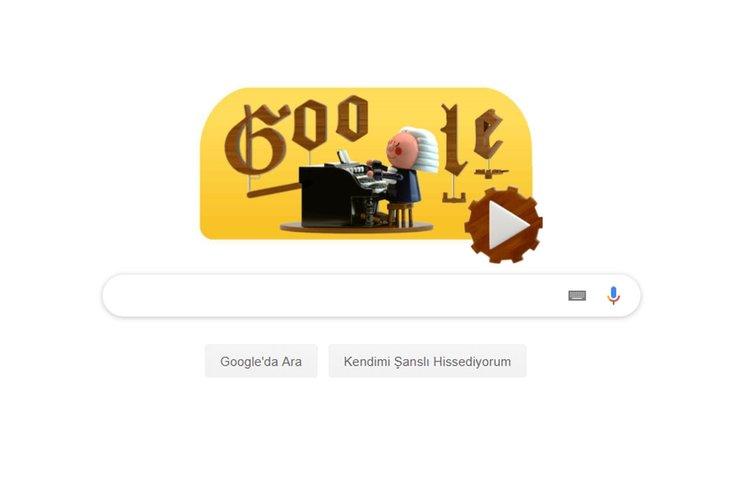 Google Johann Sebastian Bach'ı Doodle yaptı!