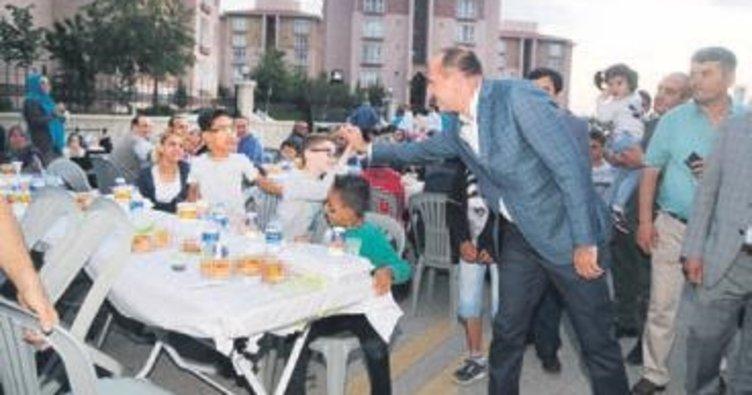 Eymir'de binleri buluşturan iftar yemeği