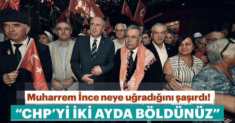 Muharrem İnce'ye İzmir'de tepki!