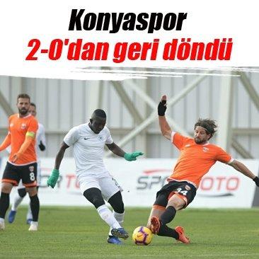 Konyaspor 2-0'dan geri döndü