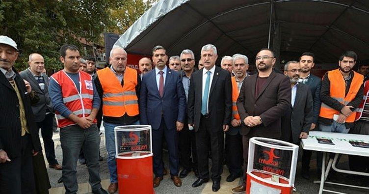 Iraklı depremzedeler için yardım çadırı kuruldu