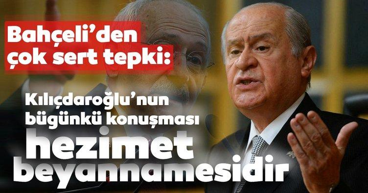 Son dakika! MHP lideri Bahçeli'den Kılıçdaroğlu'na sert tepki!