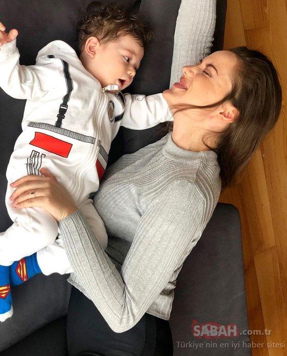 Fahriye Evcen'den oğlu Karan'ın fotoğrafı ile 23 Nisan kutlaması! Fahriye Evcen'in oğlu Karan Özçivit ile paylaşımına beğeni yağdı...