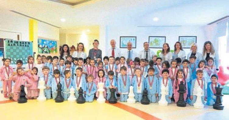 Öğrenciler satrançta hünerlerini sergiledi