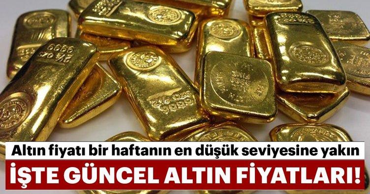 Altın fiyatı bir haftanın en düşük seviyesine yakın! İşte güncel altın fiyatları