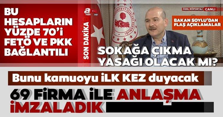 Son dakika! Sokağa çıkma yasağı olacak mı? İçişleri Bakanı Süleyman Soylu'dan canlı yayında çarpıcı corona virüsü açıklamaları!