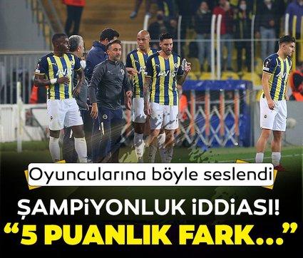 Fenerbahçe'de Vitor Pereira'dan oyunculara şampiyonluk motivasyonu! 5 puanlık fark...
